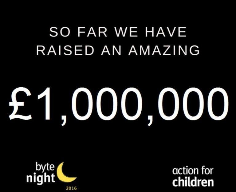 byte night raised £1,000,000