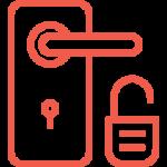 Door handle and open lock