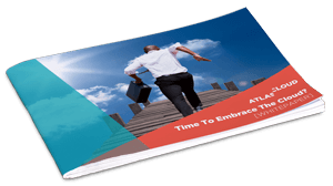 A whitepaper brochure showing a man running towards the clouds