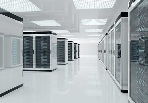 A high-tech looking data centre