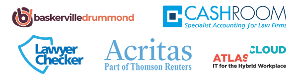 Acritas, Baskerville Drummond, The Cashroom, Legal Checker and Atlas Cloud logos