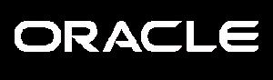Oracle white logo